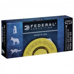 FEDERAL 22-250 55 GRAIN SOFT POINT